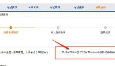 中国教育考试网教资成绩查询入口(附成绩有效期说明)缩略图