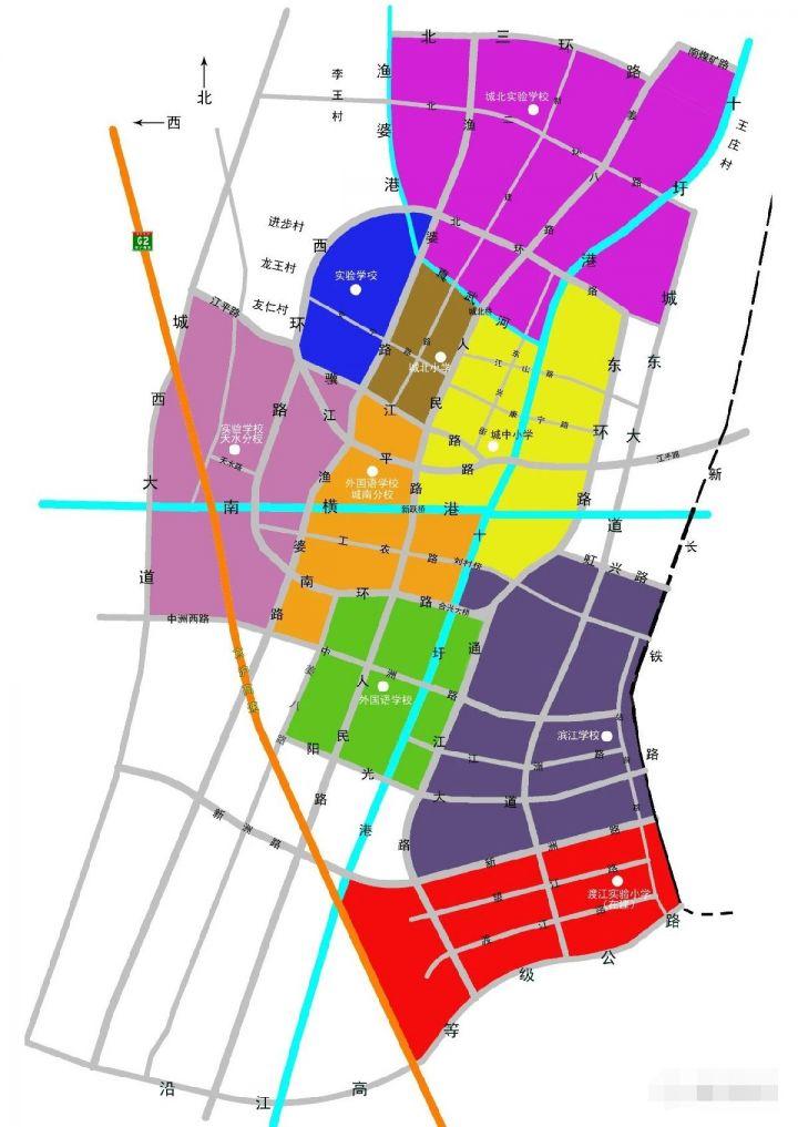 靖江市小学学区划分图(施教区范围)插图