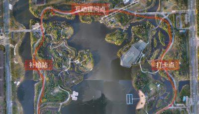 泰州五四青年节公益乐跑路线图(天德湖公园环跑)缩略图